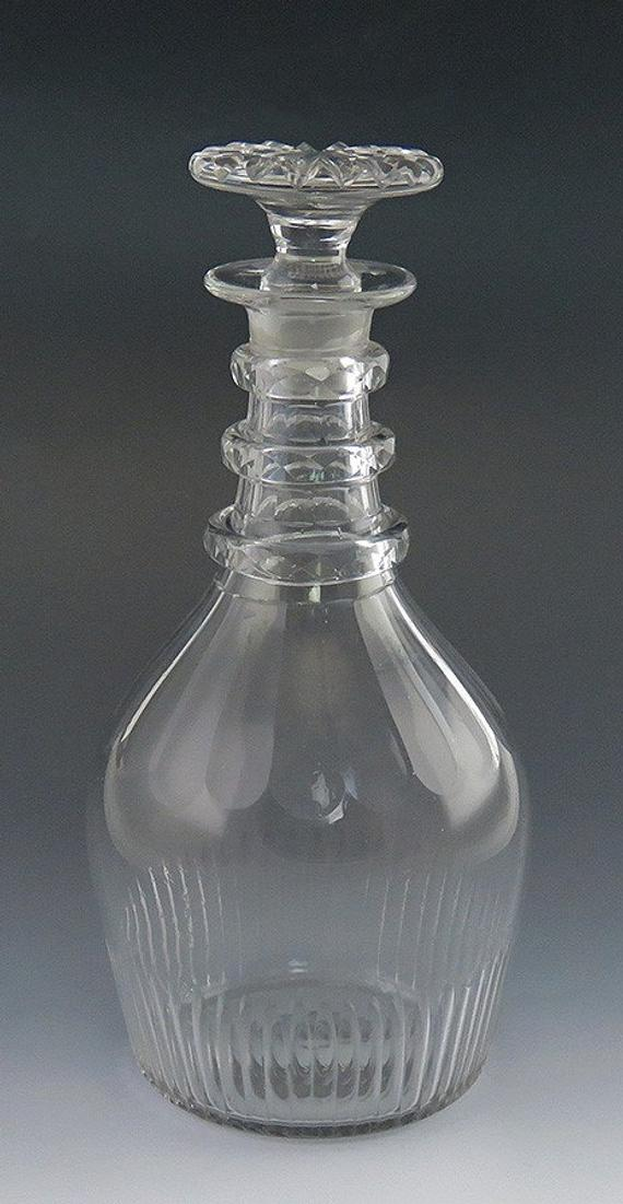 Vintage Handblown Glass Decanter with Stopper