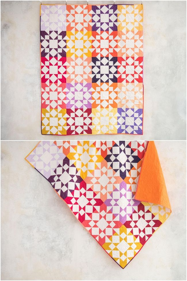 Tiled Stars Indian Summer Quilt kit by Craftsy. Star quilt ... : miniature quilt kits - Adamdwight.com