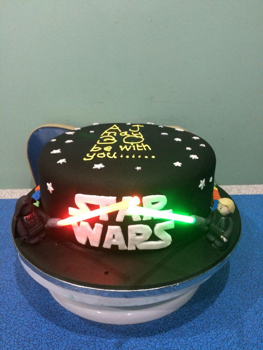 Star Wars Lego cake … | Star wars birthday cake