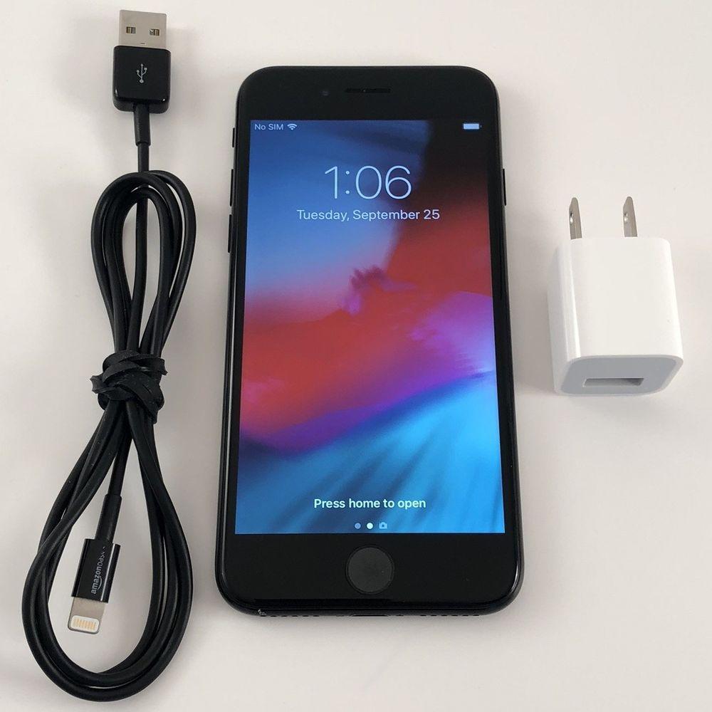 Apple iphone 7 128gb jet black a1660 cdma gsm sim