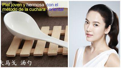 Piel hermosa y joven con el método de la cuchara oriental ~ Belleza y Peinados