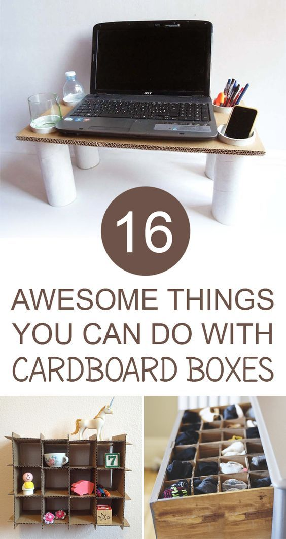 16 Amazing Things You Can Make With Cardboard Boxes -   19 cardboard crafts organizers ideas