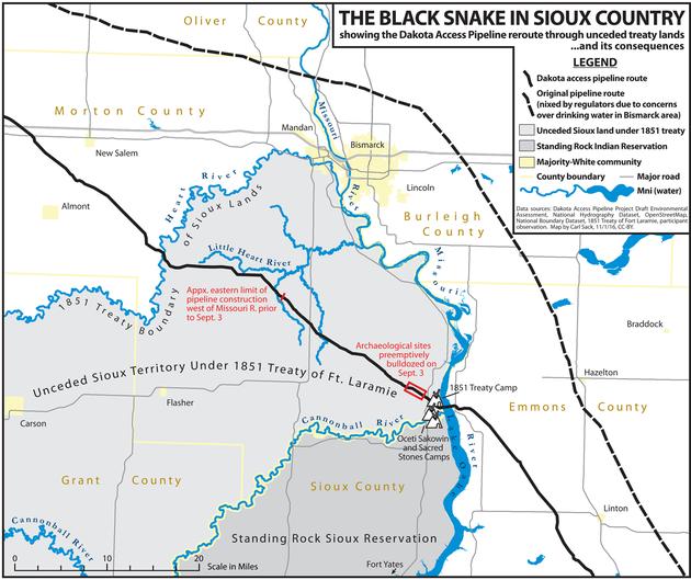 The Dakota Access Pipeline Map Everyone Should See Standing Rock Dakota Access Map