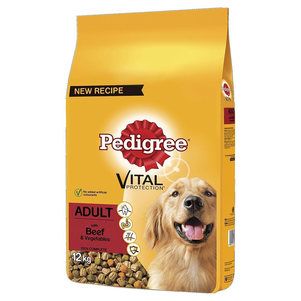 Pedigree Dog Complete Dry With Beef And Vegetables 12kg Dog