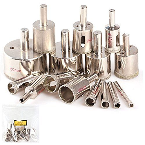 Uxcell 1 X2f 2inch Diamond Tipped Hole Saw Drill Bit For Ceramic Tile Glass Drilling Holes In Glass Drill Bit Sets Glass Ceramic