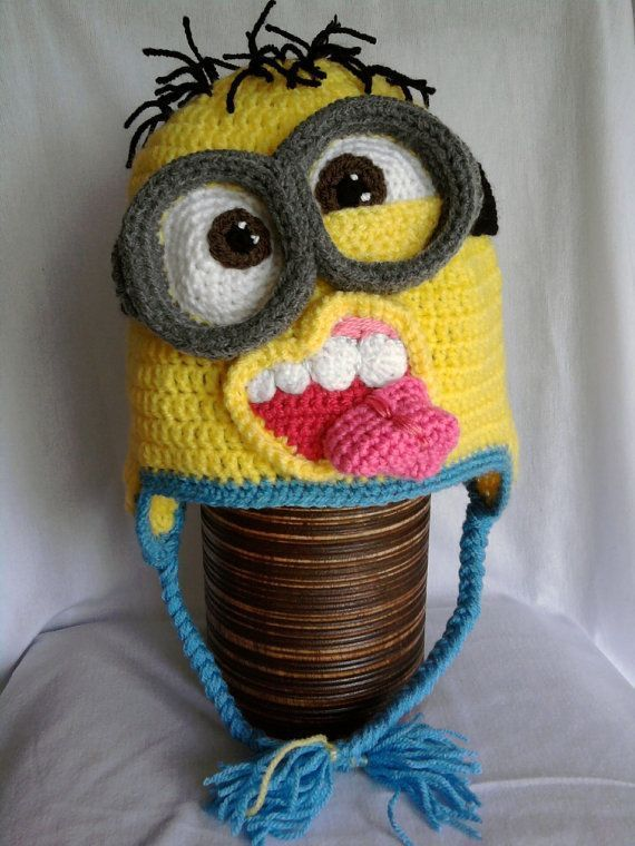 Minion crochet hat pattern....this is to freaking funny!..find ...