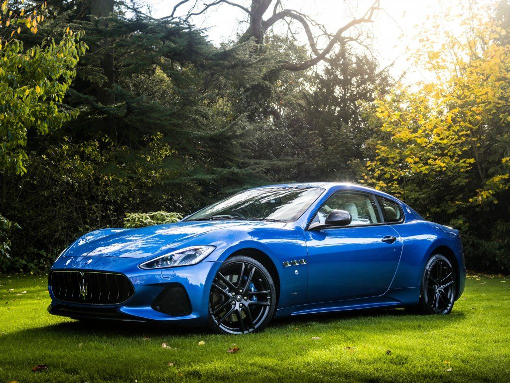 Maserati Granturismo Blue Sports Car Wallpaper Maserati