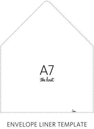 Envelope Liner Template Envelopes, Diy envelope liners and Template - a7 envelope template