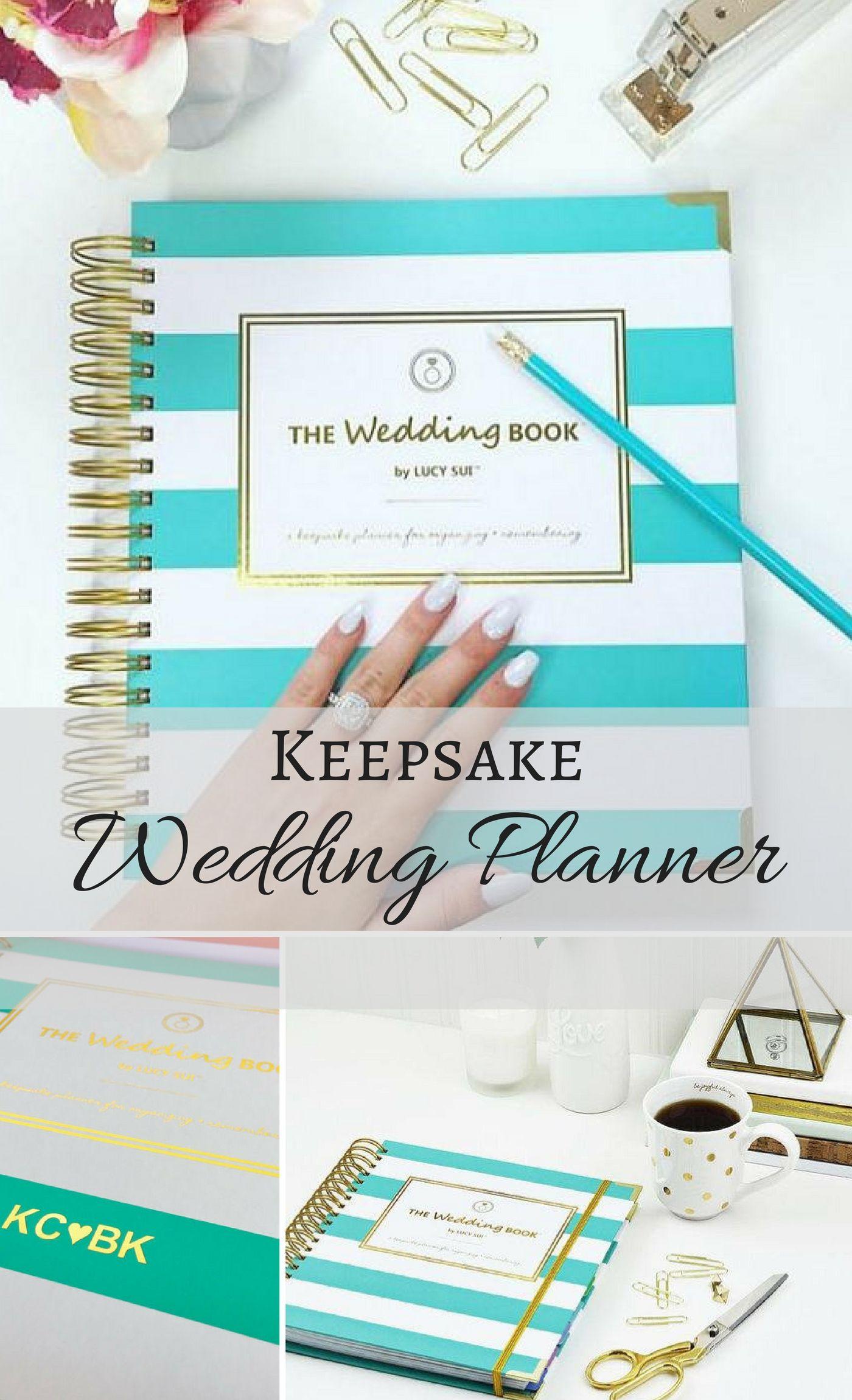 Keepsake Wedding Planner Book Monogrammed Planning Guide Engagement