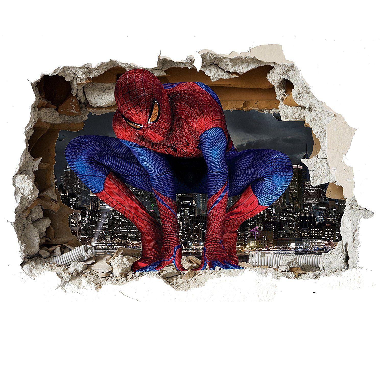 Spiderman 3D Wandtattoo | Superhelden Kinderzimmer | Kinderzimmer ...