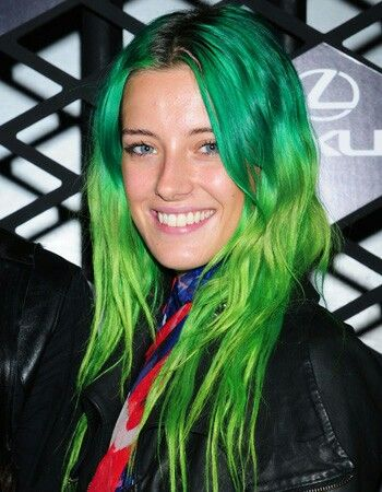 Pin By Lisa Hines On Show Us Your Hairstyle Green Hair Hair Styles Long Hair Styles
