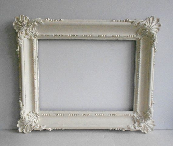 Picture Frame Large 12x16 Vintage Ornate Shabby By Mollymcshabby Great Price For This I Would Get It Make A Mirror Out Frame Picture Frames Handmade