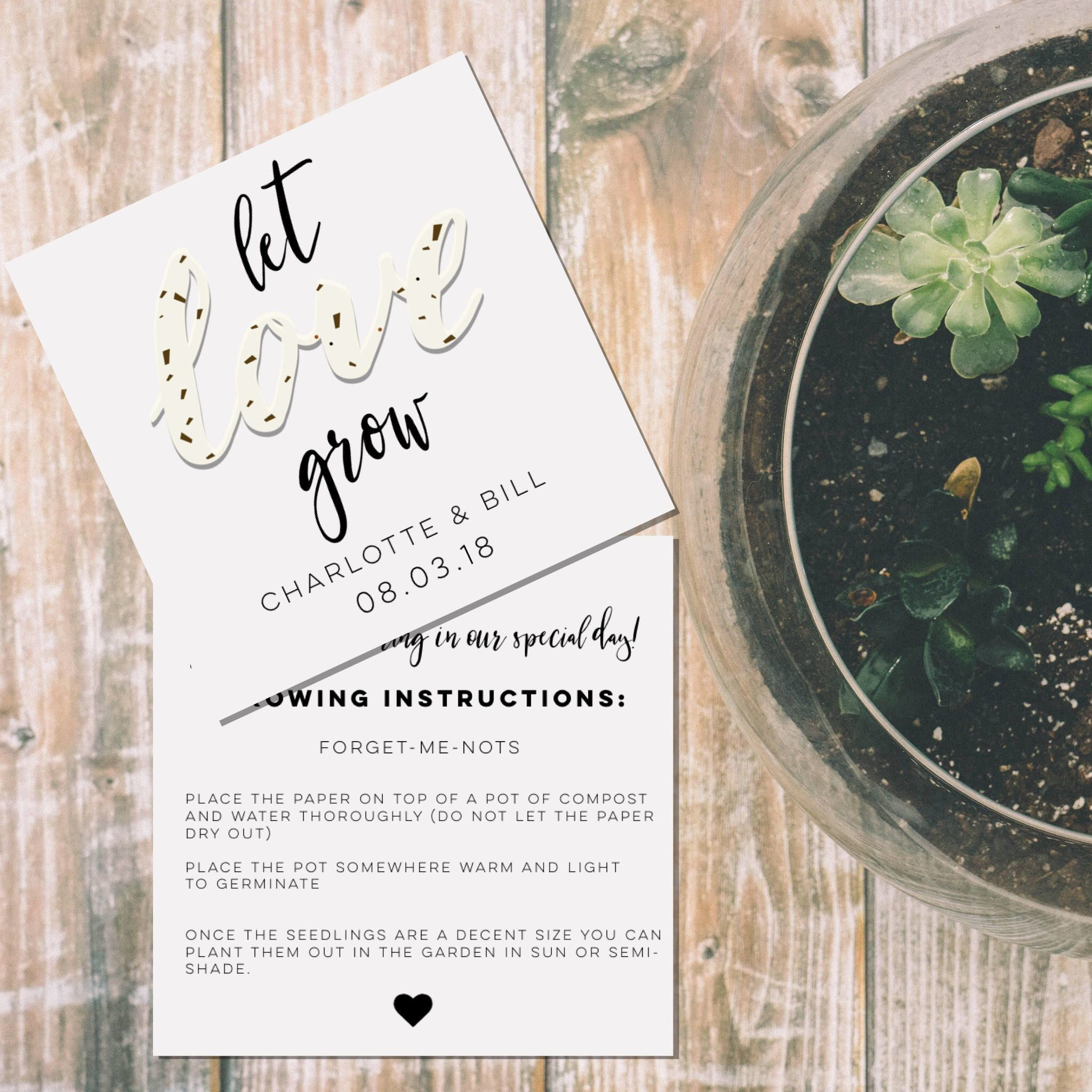 Let Love Grow-Seed Packets-Custom seed packet-Wedding seed paper ...