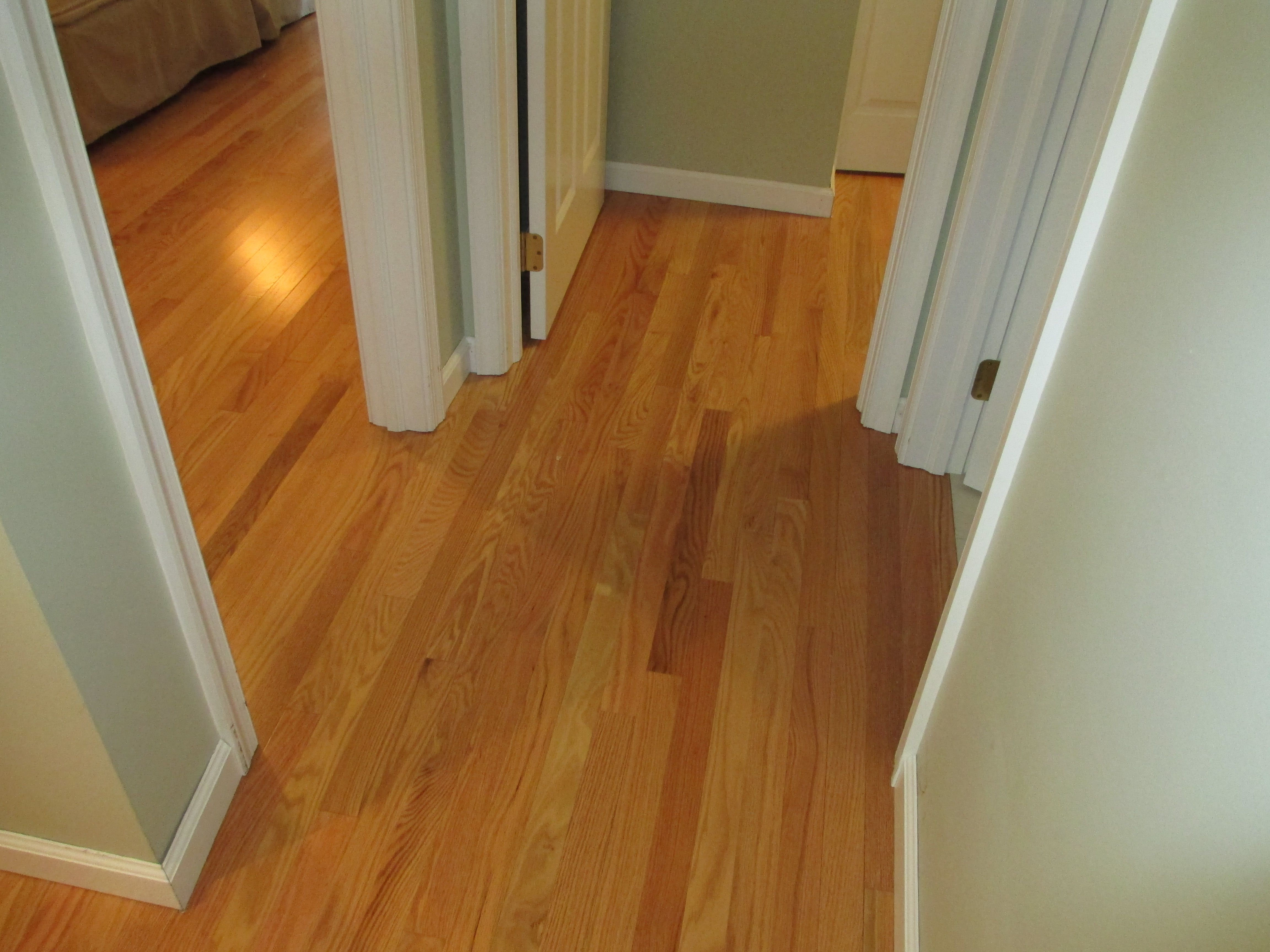 With this hardwood flooring installation we did we didn t use any