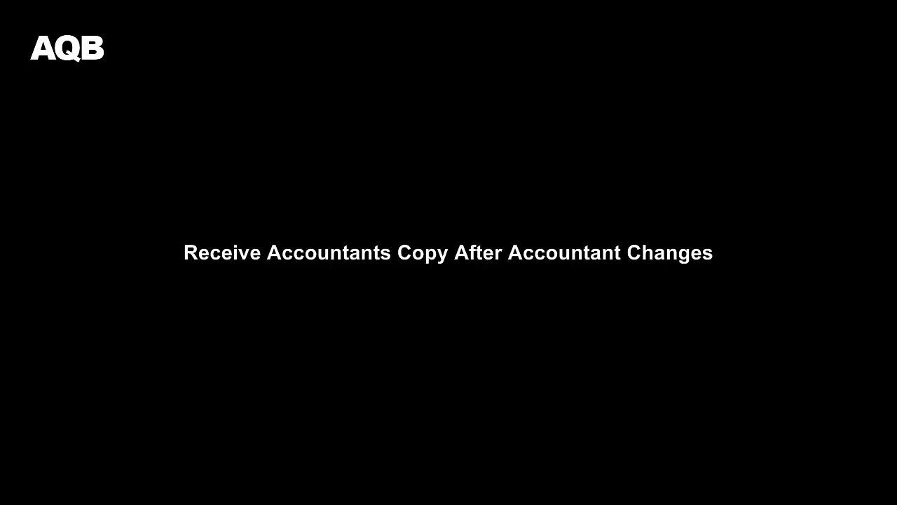 Your accountant has sent you a file with some changes for