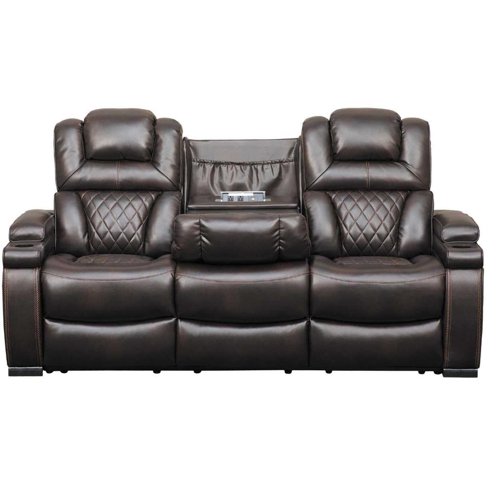 Warnerton Power Reclining Sofa With Drop Table Power Reclining Sofa Reclining Sofa Ashley Furniture Sofas
