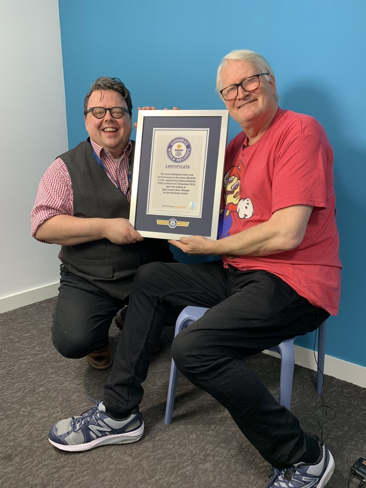 Charles Martinet, the voice of Mario, has received the Guinness World Record for most video game voi... - #'64 #acting #bros #games #gaming #mario #n64 #nintendo #retro #smash #ssb #ssbu #Super: #switch #Ultimate #video #voice