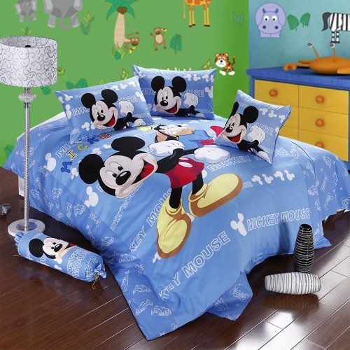 Mickey And Minnie Mouse King Queen Adults Cartoon Bedding Set 4