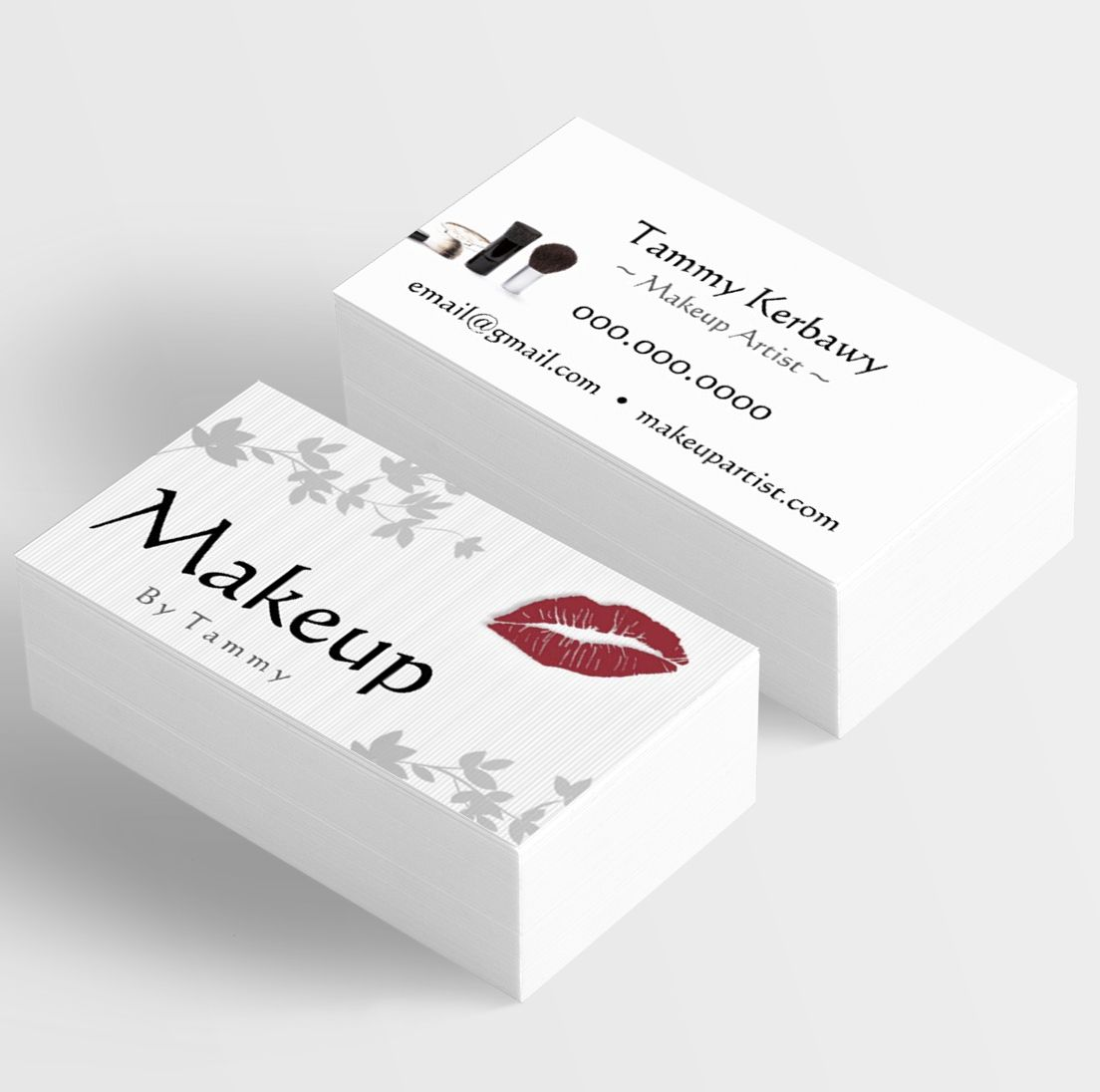 Makeup Artist Business Card Template Kindly Visit Itwvisionscom - Email business card templates