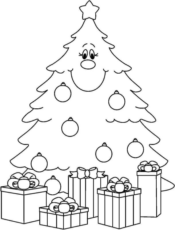 Christmas Tree Coloring Pages For Preschoolers Coloring