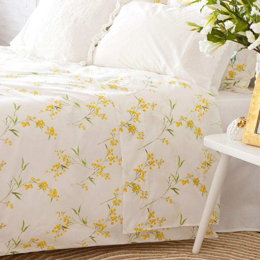 linge de lit imprim mimosa zara home france bedroom. Black Bedroom Furniture Sets. Home Design Ideas