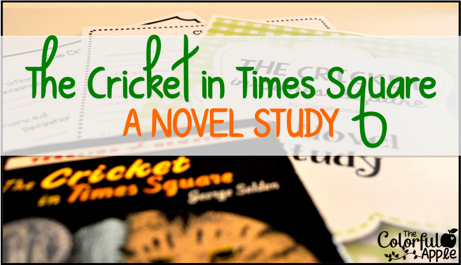 The Cricket in Times Square - a great novel for elementary school students!