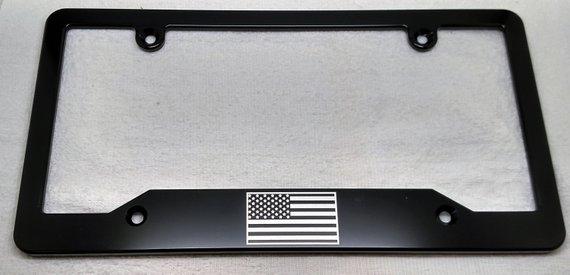 License Plate Frame Black Oxide Screw Kit