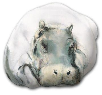 hippos, painting | Willkommen beim Meyer-Gasters Bildverlag