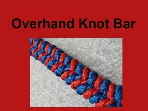 How To Make An Overhand Knot Bar Paracord Bracelet Tutorial
