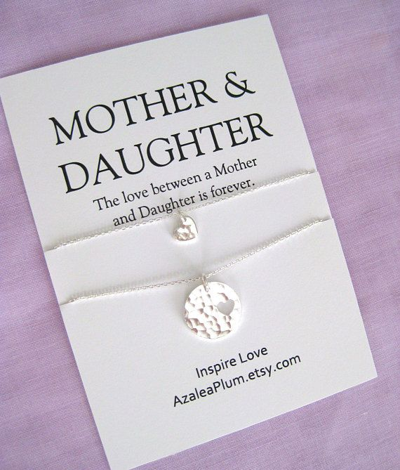 MOTHER Daughter Necklace BIRTHDAY Gift ideas for Mom 60th
