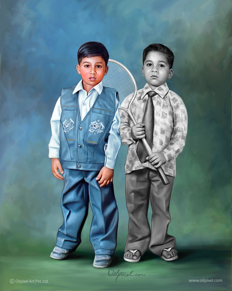 Look at our old picture restoration service & you will be