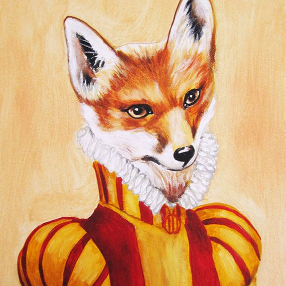 Prinz Fox-Kunstdruck-Poster - Zeichnung Illustration - Acryl-Malerei ...