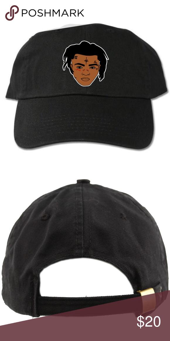 XXXtentacion Face Black Dad Hat 6-panel adult hat Graphic at front  Strapback One size 100% cotton Designed with vinyl Accessories Hats 930ec4462972