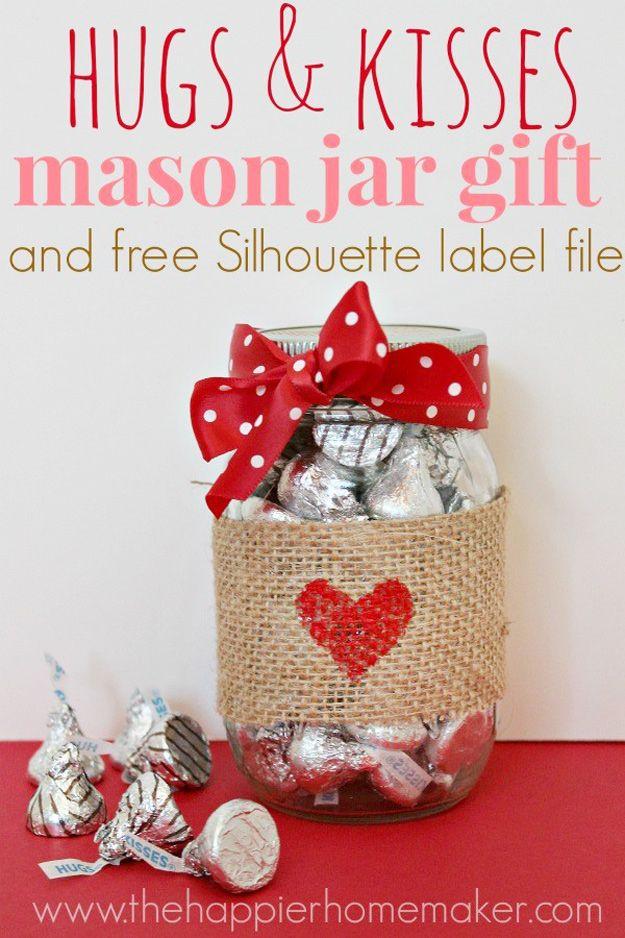 Mason Jar Christmas Decorations Hershey Kisses