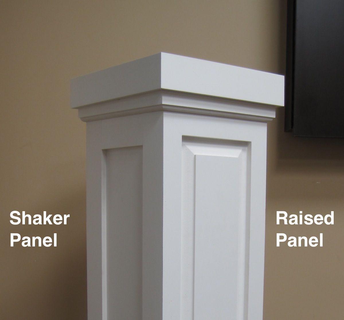 Pvc Combination Column Wrap Shaker Panel Column Wrap Interior Columns Interior Window Trim
