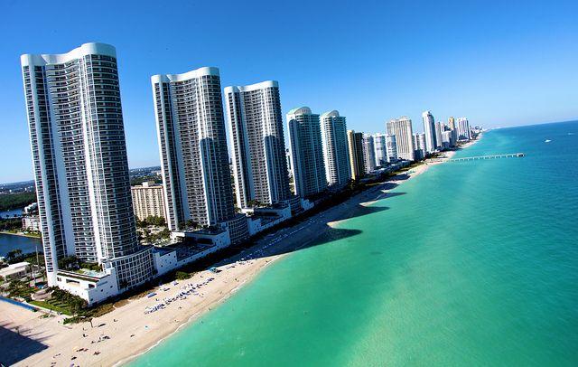 Trump Towers over the Beach (Sunny Isles Beach, Florida)