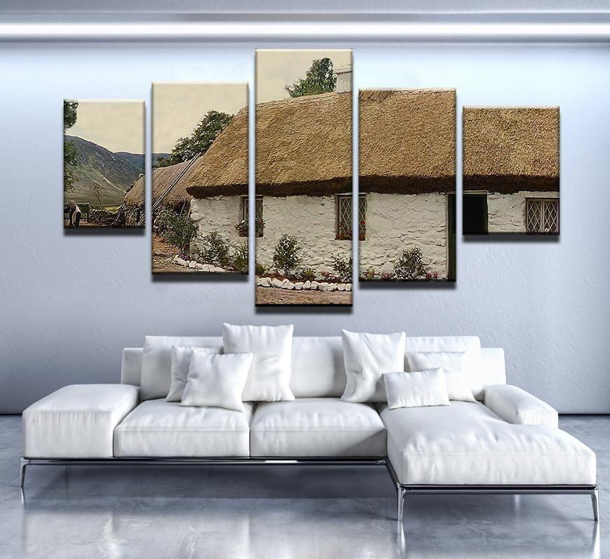 Irish White O Morn Cottage Canvas Print Wall Art Wall Prints Canvas Print Wall Customized Canvas Art