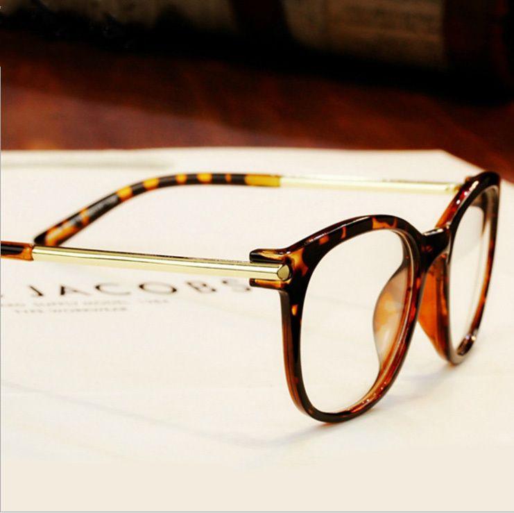 Newest Men Women Fashion Name Brand Designer Plain Glasses Vintage ...