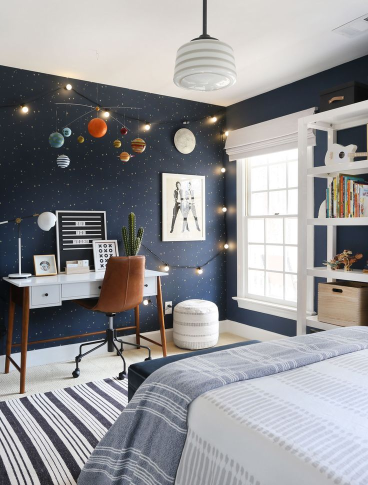 Out of This World: A Kid's Bedroom Gets A Celestial-Inspired Upgrade - Front + Main