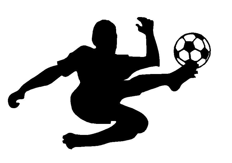 Soccer Player Adhesive Vinyl Decal Sport Decals Spirit Decals - Window decals for sports