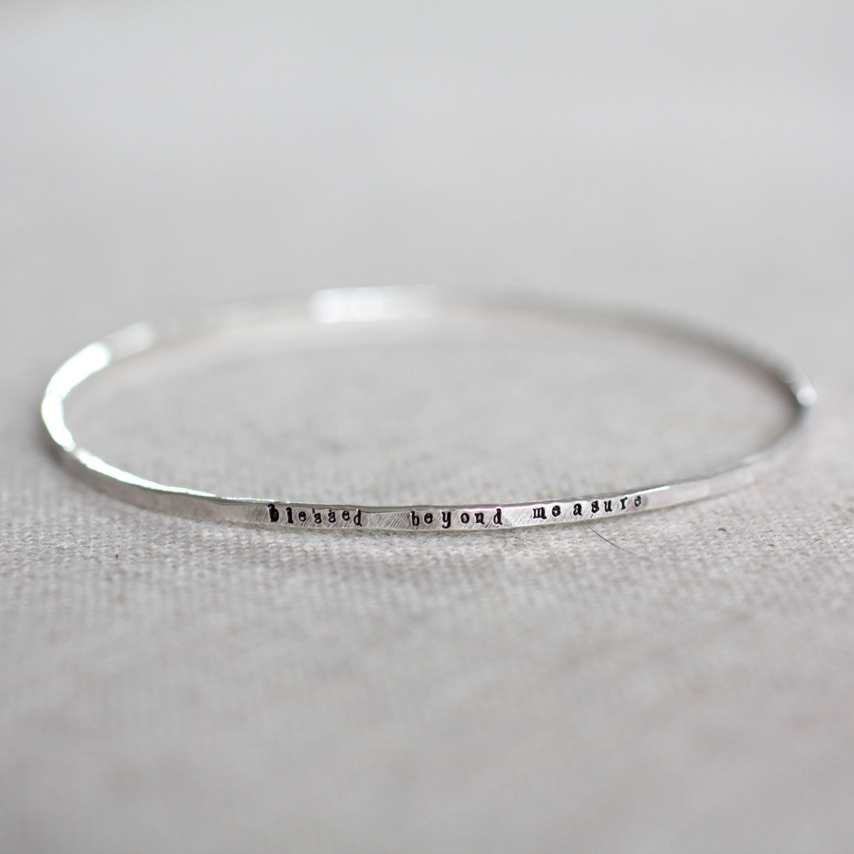 Stamped bangle bracelet | Continue reading, Gauges and Bangle