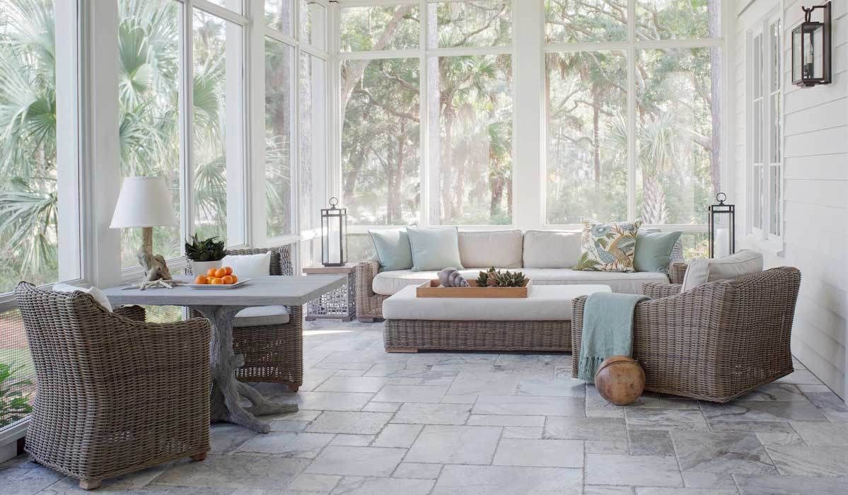12 Bright & Airy Sunroom Furniture Finds (With images)  Sunroom