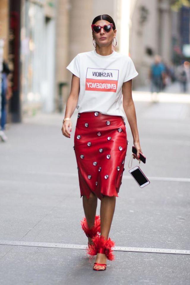 premium selection 27895 06bab LA GONNA DI PELLE ROSSA | Moda A/I