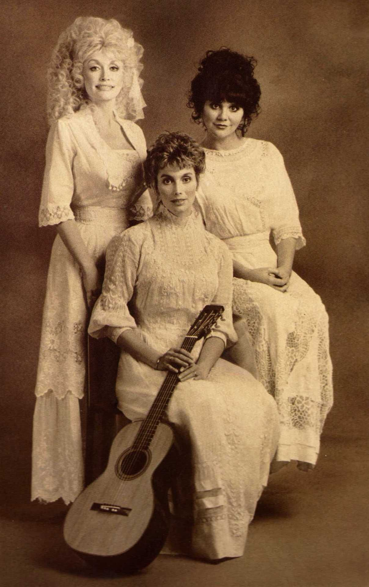 Image result for dolly parton emmylou harris linda ronstadt trio