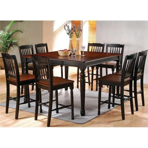 Durham Dining Pub Table And Chair Set With Turned Legssteve Fascinating Steve Silver Dining Room Set Decorating Design
