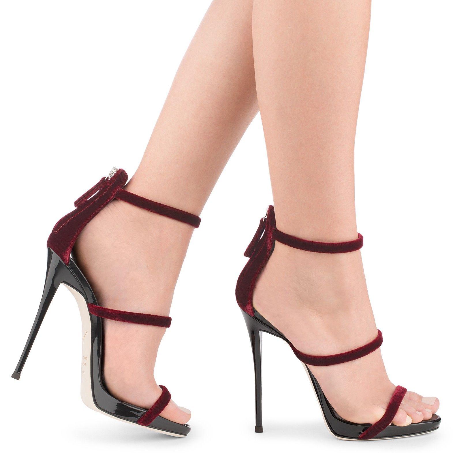bc07217bb GIUSEPPE ZANOTTI HARMONY VELVET - Red. #giuseppezanotti #shoes ...