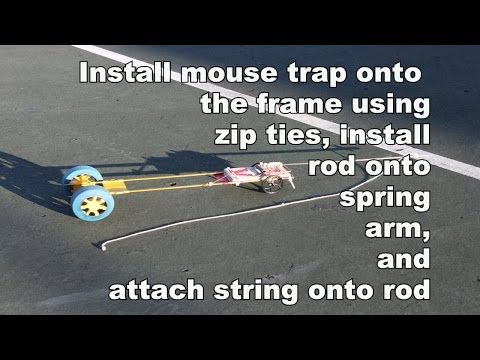 How To Build A Fast Mouse Trap Car Youtube Design Pinterest