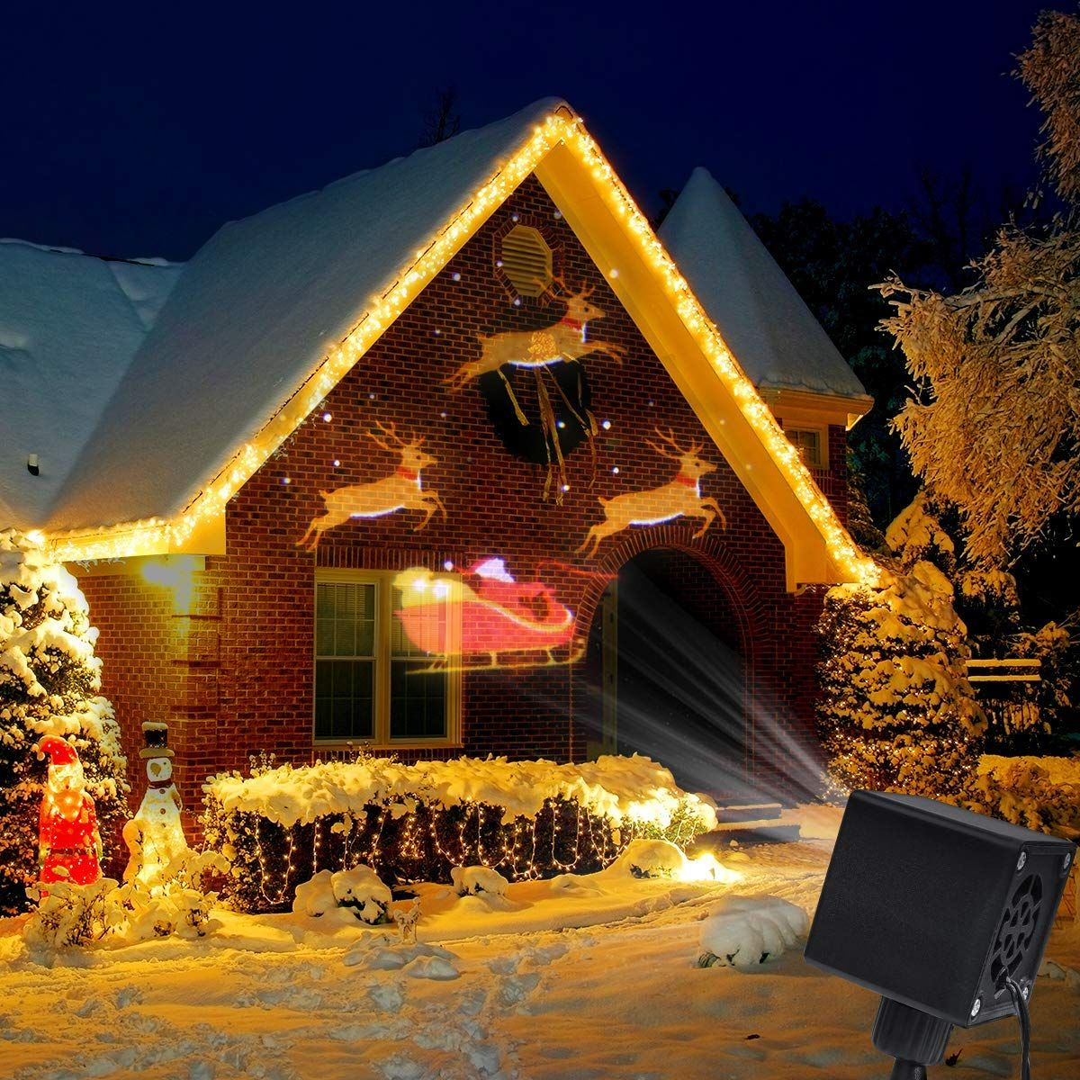 Christmas Projector.Yunlights Christmas Lights Projector Santa Reindeer Led