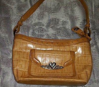 M C Marc Chantal Brown Leather Hand Bag Nwot