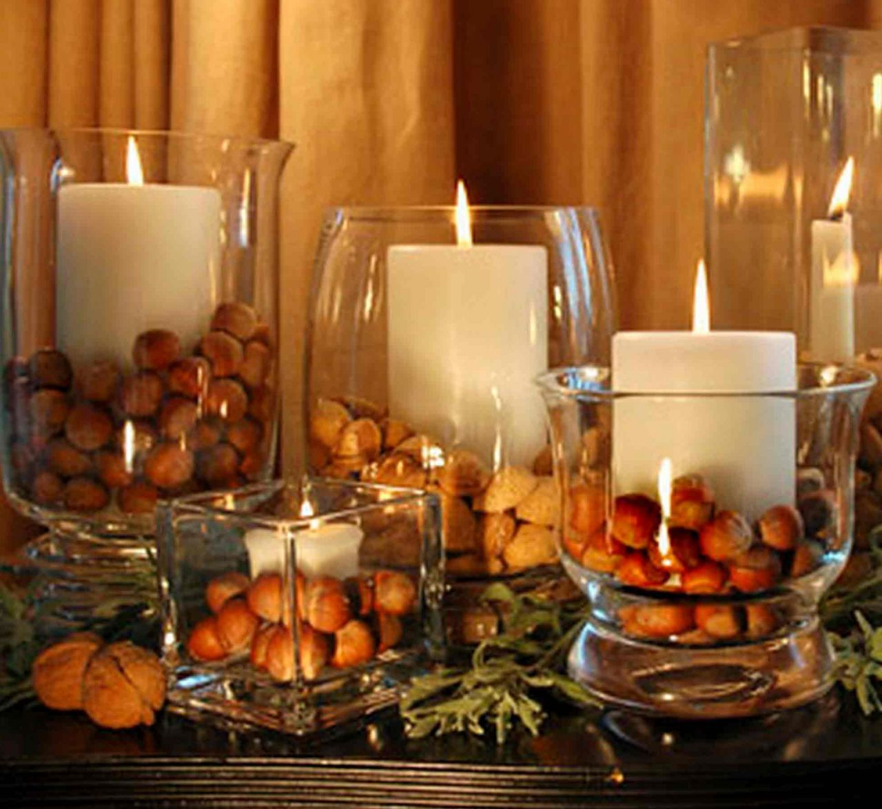 Dinner Party Centerpiece Ideas Part - 50: Fall Decorations For Dinner Party Centerpiece